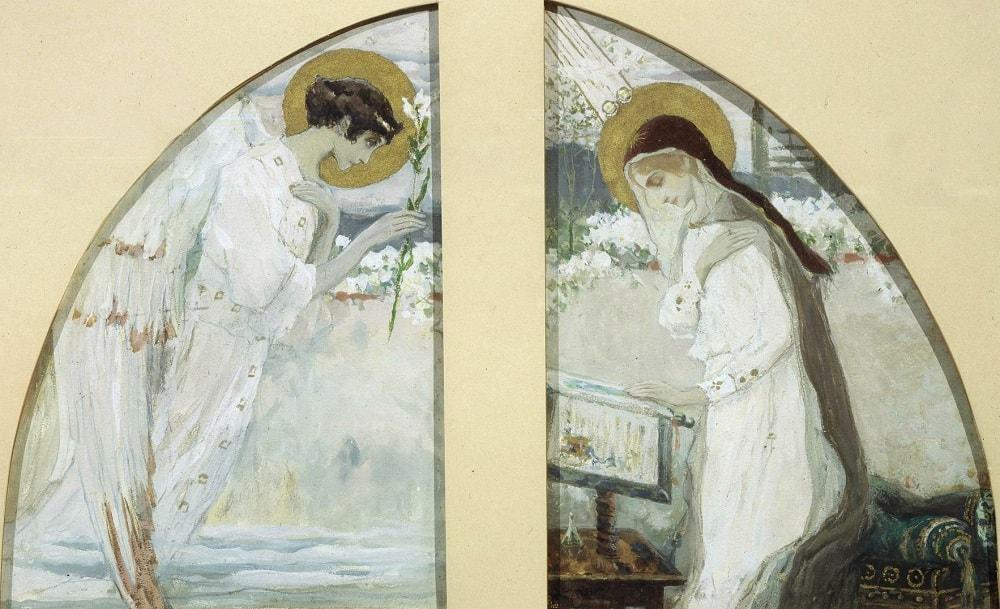 Нестеров, Эскиз росписи Царских врат северного придела на хорах Владимирского собора